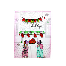 Eastshape City Girls Stamps and Dies Tree Metal Clear for Scrapbooking Snow Days Card Making Stamp Die Sets