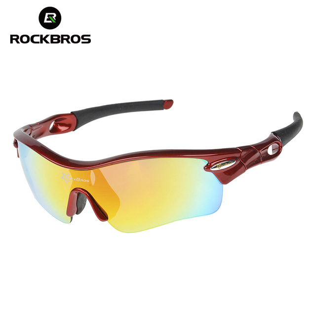 5b60d5af8b ROCKBROS Polarized Cycling Glasses Sports Glasses Sunglasses Goggles sport eyewear  bicycle glasses for cycling mountain bike Red
