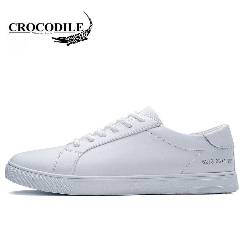 Crocodile Original Men Skateboarding Shoes White Light Flat Sports Shoes Male Outdoors Sneakers Athletic Jogging Shoes for Men