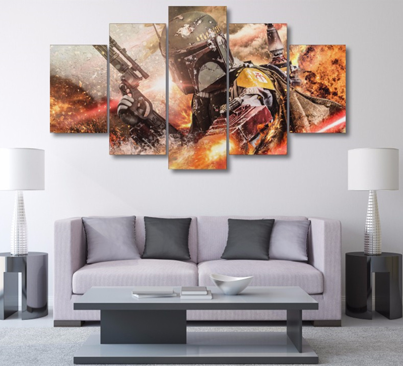 5 panel movie game star wars modern home wall decor for Modern house decor games