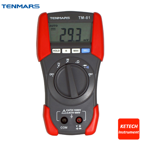 Portable LCD Display with Maximum Reading of 1999 ACV DCV Resistance Test Meter Digital Multimeter TM81 цены