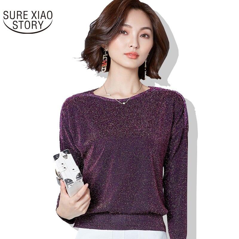 Solid Women Tops 2018 Autumn women   blouse     shirt   Long Sleeve Loose Women lace   Blouse   Female Fashion Casual women   Shirts   83J 30