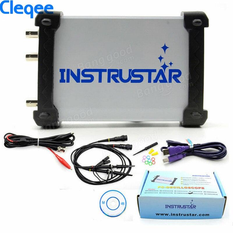 Cleqee ISDS220B Virtuel PC USB Oscilloscope 200 M Taux D'échantillonnage 60 M Bande Passante avec Analyseur de Spectre + DDS Signal Source générateur