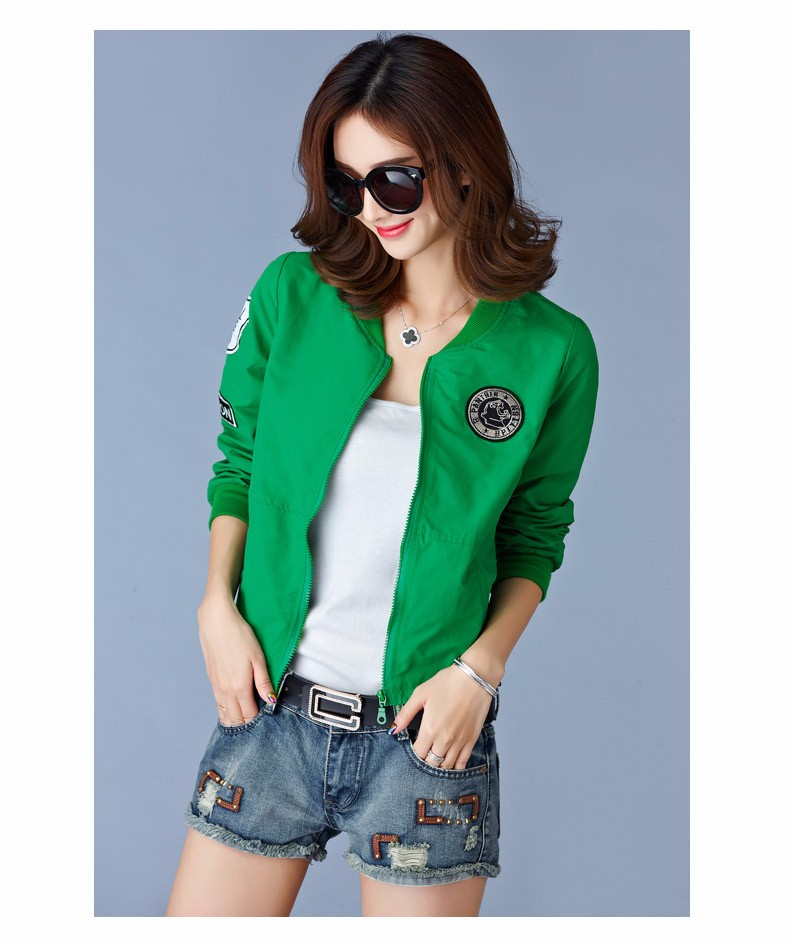 7 Colors Spring Summer Jacket Women Leisure Loose Plus Size Coat O Neck Long Sleeve Autumn Sport Jackets Casaco Feminino 2016 A8 D