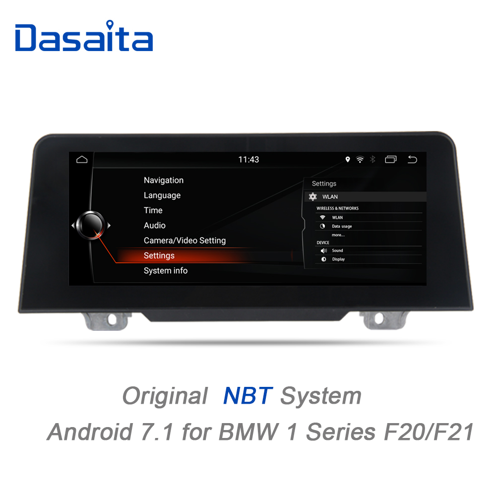 Dasaita 8.8 Android 7.1 car audio Multimedia Player for BMW F20 F21 2017 GPS Navigation Bluetooth 1280*480 NBT system Wifi 2+32 kanor 8 8 2g 32g android 7 1 car radio multimedia player for bmw 1 series f20 f21 2010 2016 2 series f23 2013 2016 nbt system