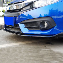 abs Front Bumper Lip Body Spoiler Kits fit For Honda Civic 10th 2016-2018