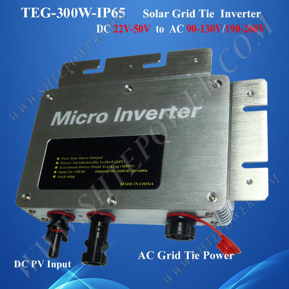 Waterproof power inverter IP65 300w solar panel sysytem dc 24v input output ac 110v 220v solar micro inverters ip65 waterproof dc22 50v input to ac output 80 160v 180 260v 300w