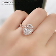 Memnon 2018 NEW 100% 925 silver Ring Radiant Teardrop Rings for women with rose gold anillos wedding bands Female pop Jewellery