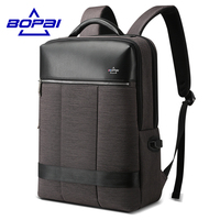 BOPAI Men Backpack Business 15.6 inches Laptop Backpack Big Student Backpack Casual Style Bag Waterproof mochila masculina 2018