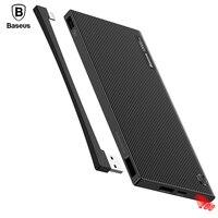 Baseus Portable 10000mAh Power Bank Dual USB LCD Powerbank Slim External Battery Charger For IPhone 7