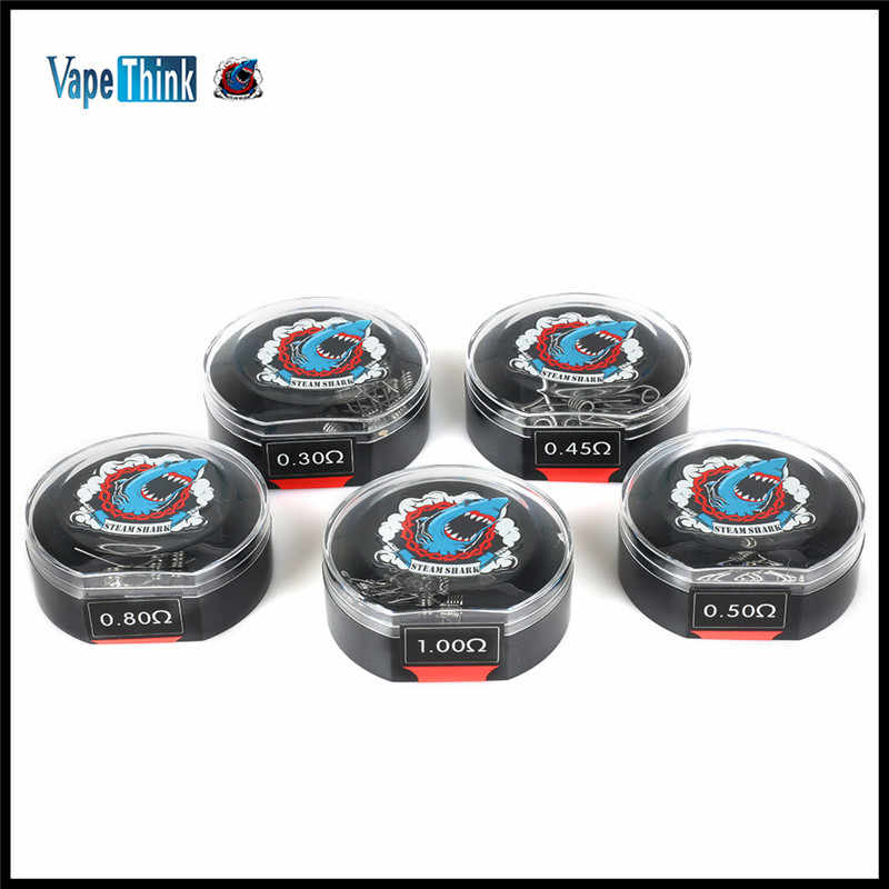 10Pcs Each Box Original Vapethink 22ga 24ga 26ga 28ga Coils for DIY RDTA RDA RTA Vaporizers Premade Resistence Wires