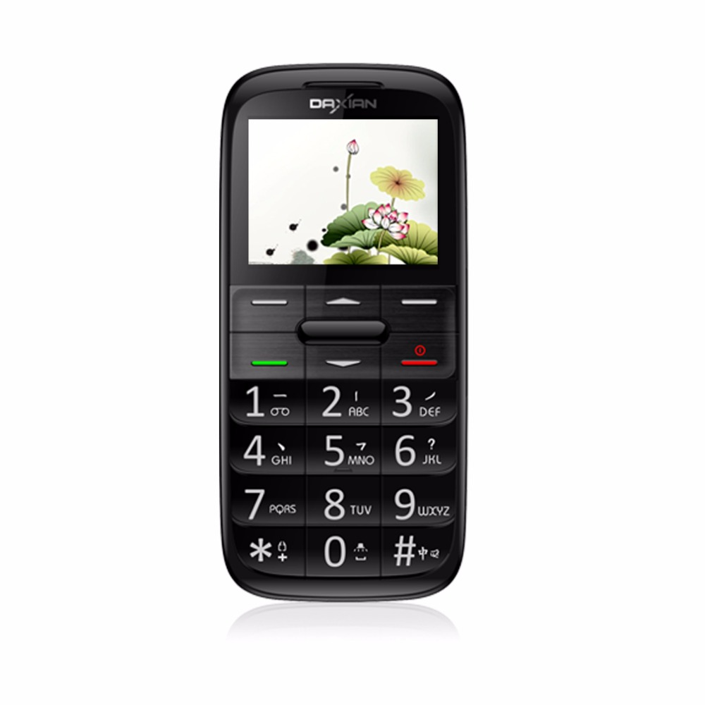"DAXIAN I9500 2G GSM Cellphone 2.2"" MTK6260 24MB+32MB 0.3MP Camera Video Dual SIM SOS FM TF Card Flashlight 800mAh Mobile Phone"