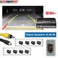 Koorinwoo 電磁駐車場センサー 8/6/4 プローブのためバックライトフロントリア警報 Parkmaster ナビゲーション DVD ビデオシステム