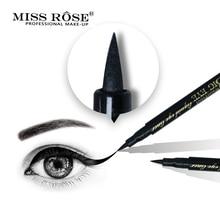 Miss Rose Brand Black EyeLiner Pencil Waterproof Natural Quick Dry Eye liner pen Beauty Long lasting Makeup недорого