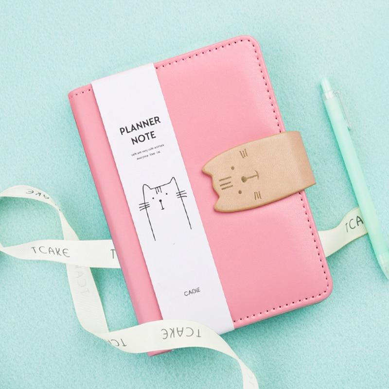 CAGIE Spiraal Kawaii Kat Schetsboek Dagboek A6 Dagplanner Agenda - Notitieblokken en schrijfblokken bedrukken
