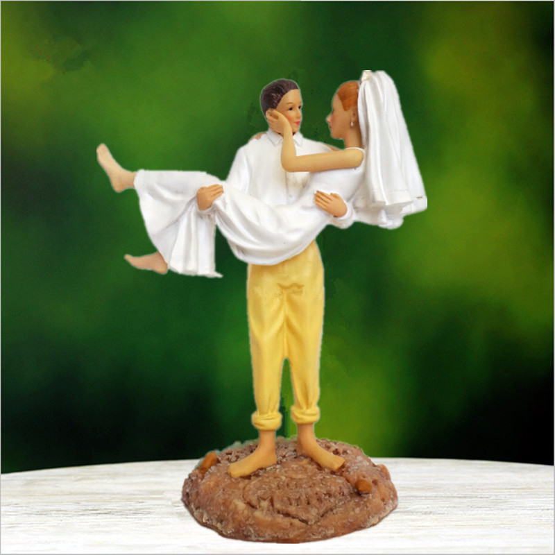 """sweet Beach Couple "" Bride And Groom Wedding Cake Topper"