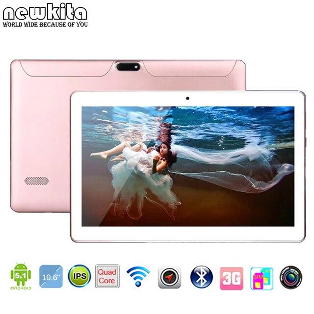 "Newkita 10.6 ""3 Г 5.0MP Окта Ядро Таблетки 1366*768 пксл 4 ГБ 32 ГБ Планшет Bluetooth GPS-Android 5.1 Таблетки 10"