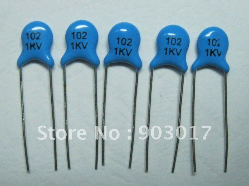 Ceramic Disc Capacitors 1000v 1kv 102pf 0 001uf 1nf