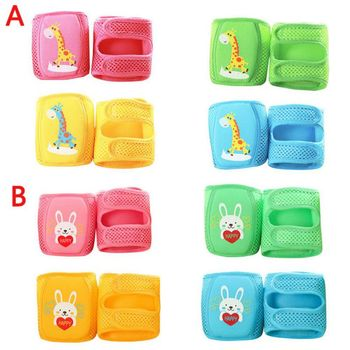 Mesh Baby Knee Pads Breathable Safety Kneepads Kids Leg Warmers Infant Toddlers Cute Cartoon Crawling Protector