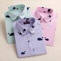 Dioufond Хлопка Женщин Печатных Блузки С Длинным Рукавом Летние Рубашки И Топы Женщины Мода Плюс Размер Женщин Clothing Blusas Femininas