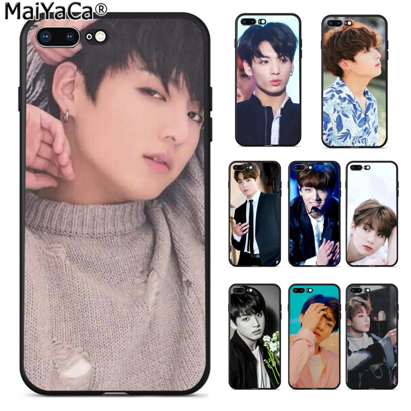 MaiYaCa BTS Bangtan Boys Jungkook Kpop Printed Fashion phone case cover for Apple iPhone 8 7 6 6S Plus X 5 5S SE XS XR XS MAX