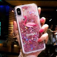 Pink Flamingo Glitter Dynamic Liquid Quicksand Case For Samsung J3 J5 J7 2016 2017 J4 J6 A6 A8 Plus A7 2018 Note8 S8 S9