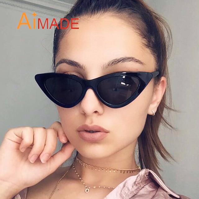 f508861a44 Aimade 2018 mode mignon Sexy rétro yeux de chat lunettes de soleil femmes  Vintage marque Designer