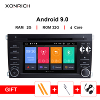 7''2 Din Android 9.0 Car Multimedia Player For Porsche Cayenne 2003 2010 GPS Navigation AutoRadio Audio DVD BT Head unit Wifi 4G