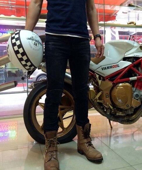 UglyBROS перину джинсы мото джинсы Штаны локомотива Велоспорт Модные джинсы черный