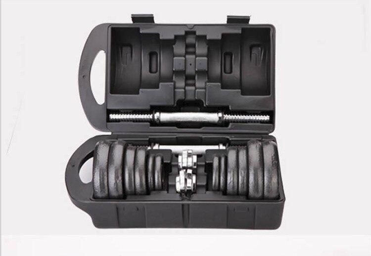 Haltères haltères 2 utilisation placage haltères 2 haltères + connecteur de vis de sécurité équipement de fitness avec tiges en plastique 15 kg