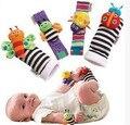 High quality 4Pcs Baby Rattle Toy Socks Animal Cute Cartoon Baby Socks