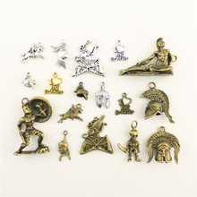 Charms For Jewelry Making Soldier War Horse Helmet  Accessories Parts Creative Handmade Birthday Gifts