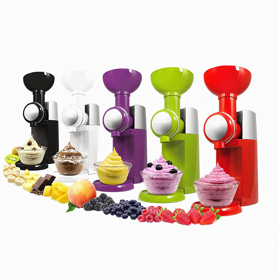 220V EU US UK AU Plug Electric Ice Cream Machine Household DIY Frozen Fruit Ice Cream Good Quality Ice Cream Maker Machine