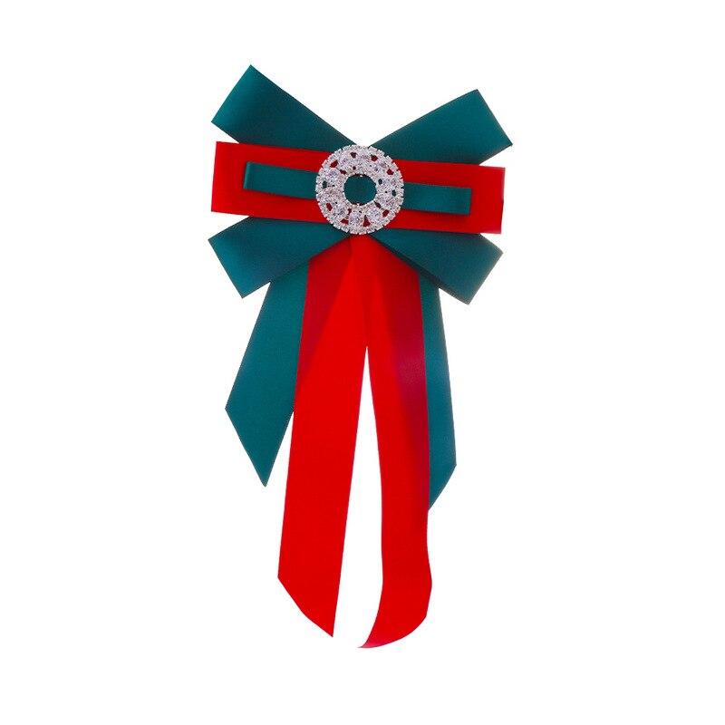 Brillant Zwei-ton Fliege Damen Hemd Brosche Krawatte Kragen Blume Strass Band Doppel Bogen