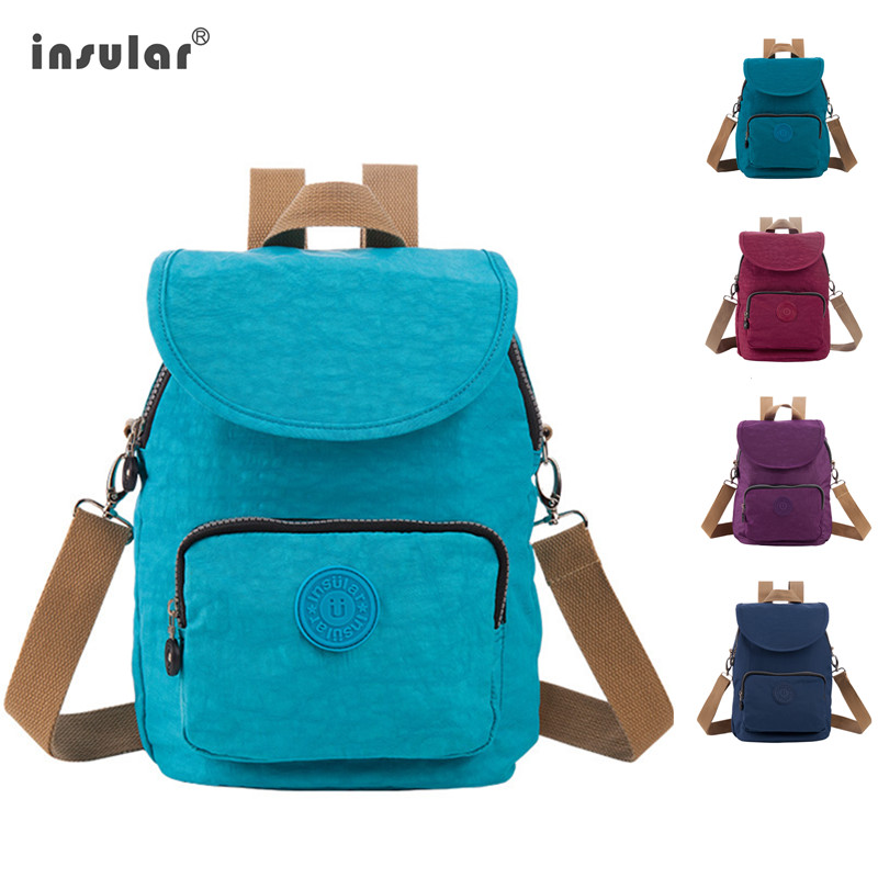 Insular Brand Maternity Nappy Bag Small Size Fashion Nylon Diaper Baby Bag Travel Backpack Mummy Nursing Bags For Moms