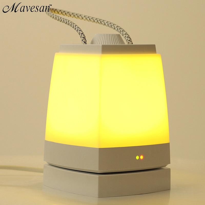 Usb LED creative energy saving night light plugged bedroom bedside charging table lamp sleep baby feeding light study Book lamps