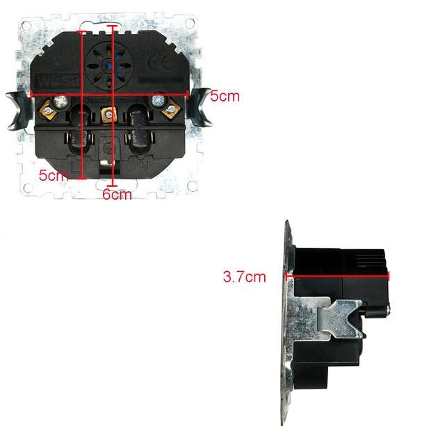 2019 nuevo diseño doble USB decorativo enchufe de pared 5V 2A negro Marco de cristal templado FB-19