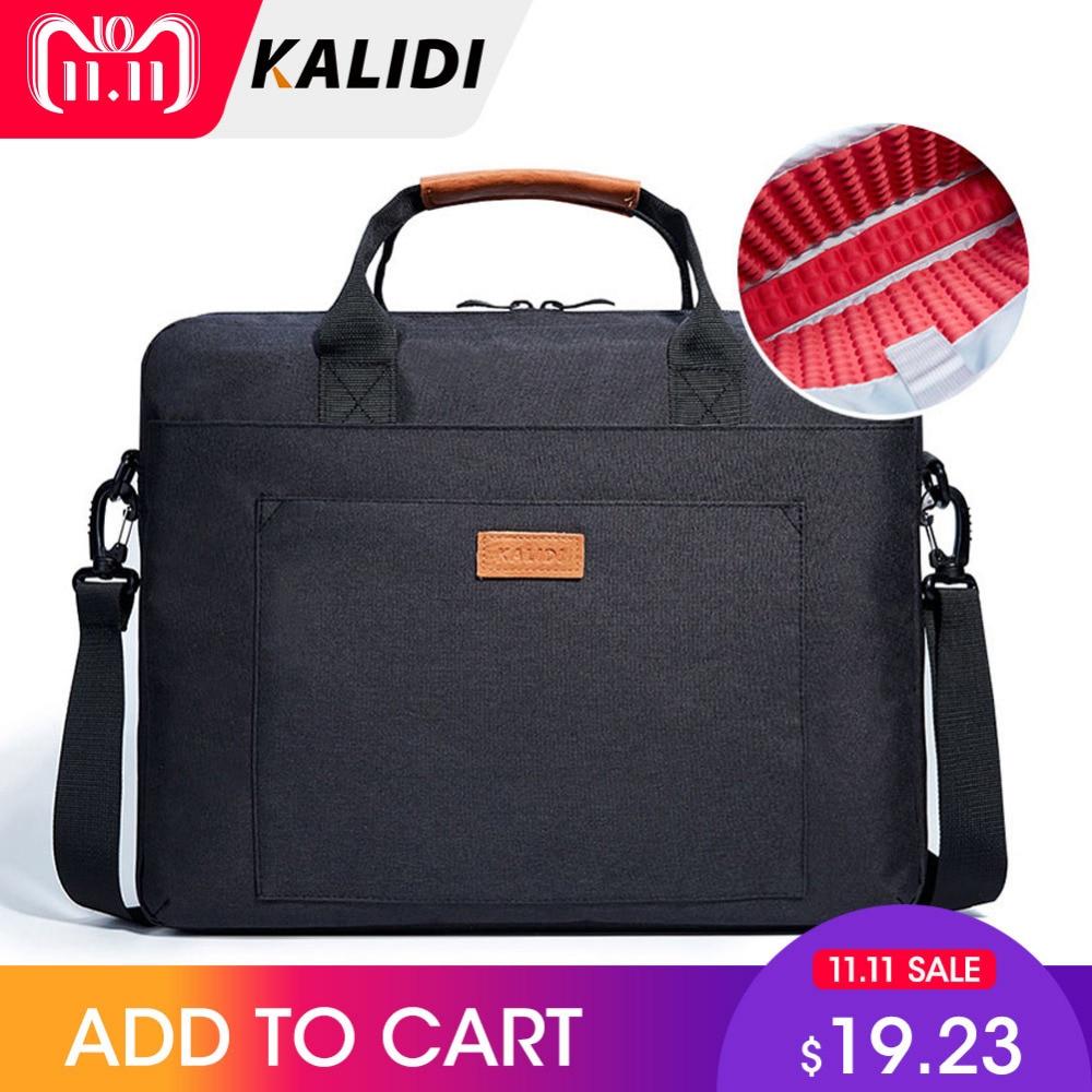 KALIDI Laptop Bag 13.3 15.6 17.3 Inch Waterproof Notebook Bag for Macbook Air Pro 13 15 Laptop Shoulder Handbag Briefcase Men цены