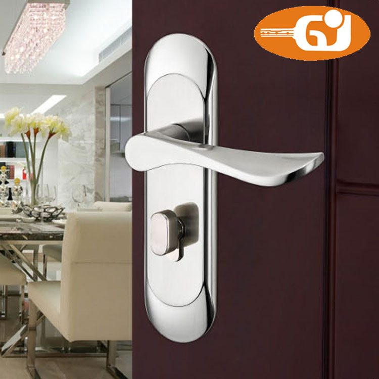 2015 effective stainless steel door handle mortise lock with cylinder and keys 304 stainless steel door lock with door handle cylinder and lockbody