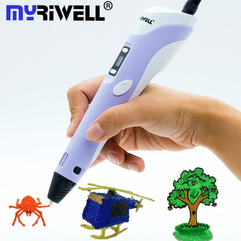 Myriwell 3D Pen 2nd Generation LCD 3D Drawing Printing Pens 3d Magic Pen With 100m ABS Filament 1.75mm Best Gift for Kids Tools 3d pen 2nd generation rp 100b led display diy 3d printer pen with 4 color 5m filament arts 3d pens for kids drawing tools