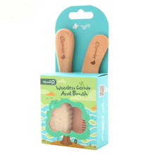 Wooden Comb And Brush High Quality Baby Hairbrush Newborn hair brush Infant Comb Head Massager For Boys And Girls JRR 012