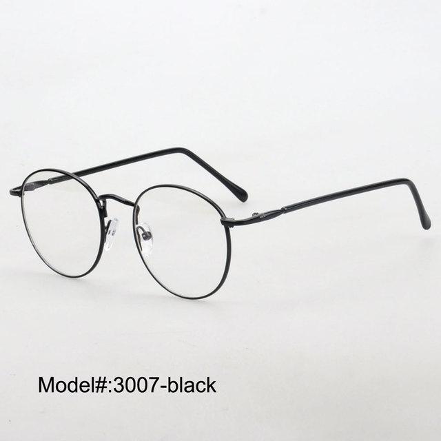 08f7c5f990 Metal Myopia eyewear eyeglasses round for men RX optical frames prescription  spectacles 3007