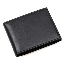 Genuine Leather RFID Function Wallet Hot Selling Credit Card Purse Classic And Solid Black R-8135A