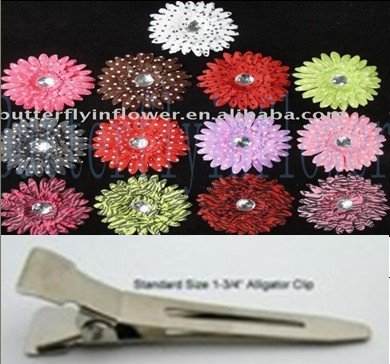 "120pcs/set 4""New daisy Flowers clip new arrival,many  colors artificial flower clips,faster delivery time"