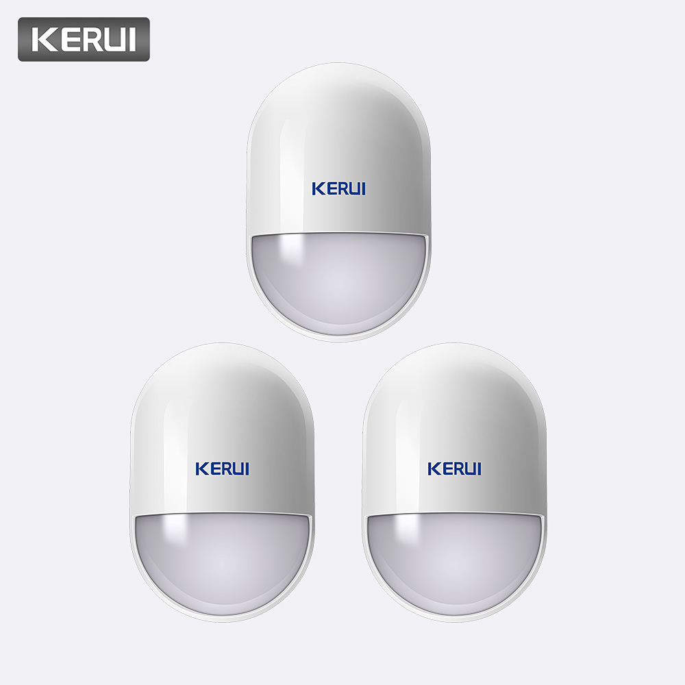 KERUI 3pcs Wireless Pir Detector Infrared Detector For Home Security Gsm Alarm Systems 433Mhz Pir Motion Sensor Indoor