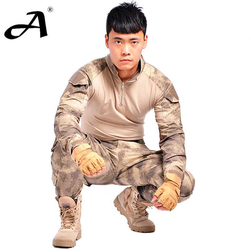 Tactische militaire uniform kleding leger van de militaire combat uniform tactische broek met kniebeschermers camouflage kleding