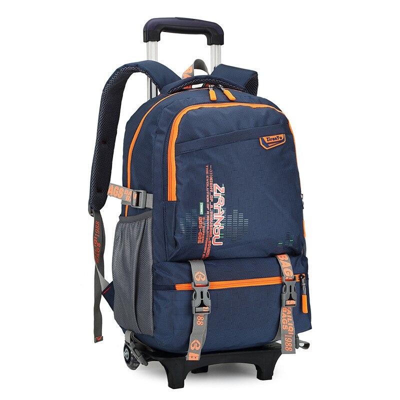 Us 52 93 49 Off Waterproof Trolley Backpack Boys Girls Children School Bag Wheels Travel Bag Luggage Backpack Kids Rolling Detachable Schoolbags In