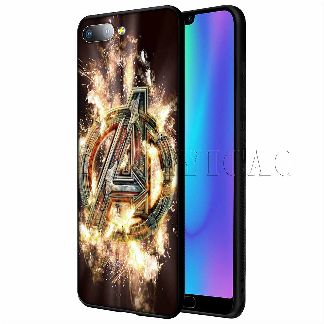 IYICAO MARVEL The Avengers Soft Case for Huawei P20 Pro P10 P8 P9 P30 Lite Mini 2017 P Smart 2019 Cover