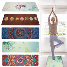 5mm Lotus Pattern Suede Mat TPE Yoga Pad Non-slip Slimming Fitness Exercise Softly Mat Fitness Body Building Pilates Mat недорого