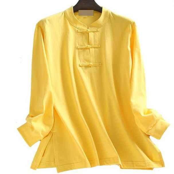 Unisex wiosna i jesień czystej bawełny mundury lay medytacja garnitury wing chun kung fu sztuki walki koszule żółty/szary/róża/niebieski/czarny